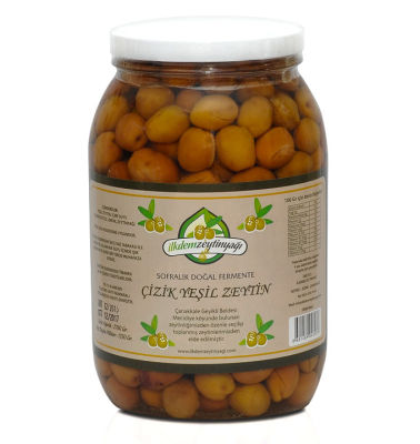 Doğal Fermente Çizik Yeşil Zeytin Net: 1350 gr.