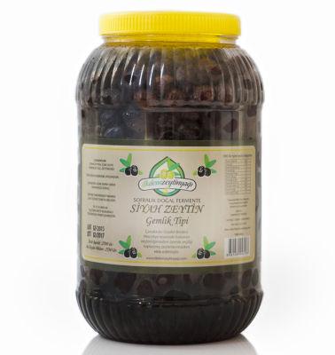 Doğal Fermente Siyah Zeytin Gemlik Tipi Net: 2550 gr.